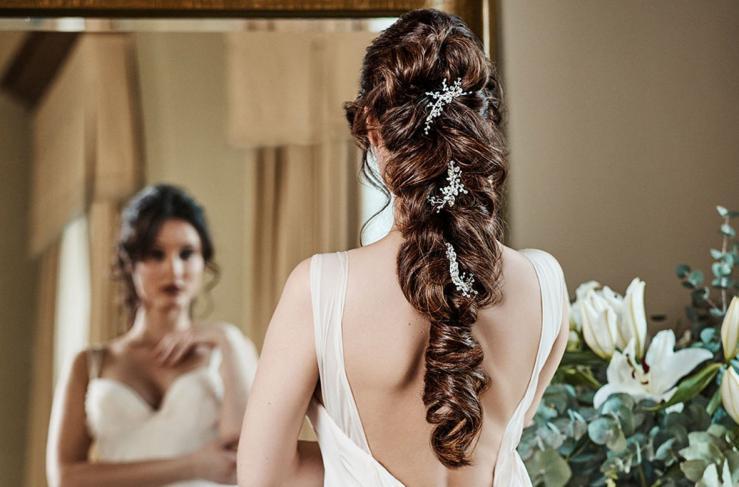 Langes Haar für die Braut