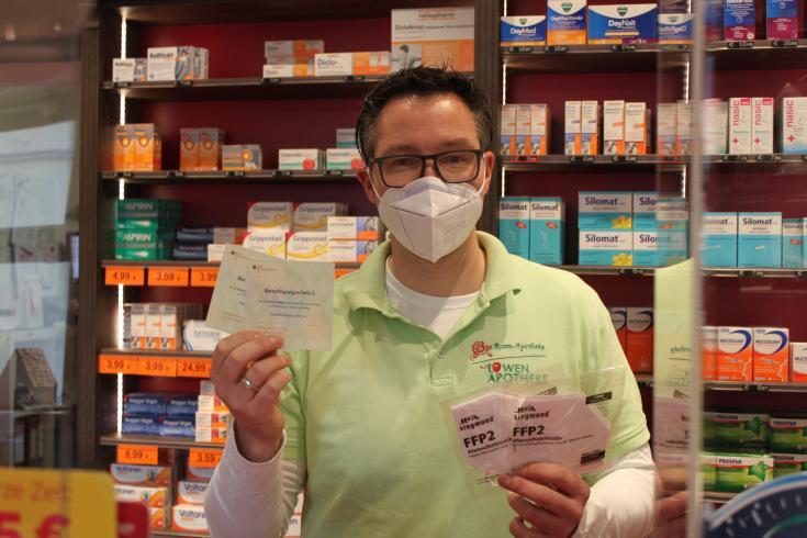 Coupon für FFP2-Masken in der Rosen-Apotheke und Löwen-Apotheke in Eisleben einlösen