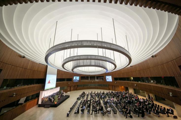 Tagen im Parlament des Rats der EU