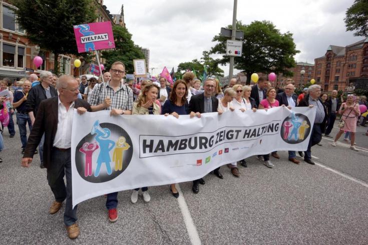 Haltung gezeigt gegen G20-Gewalt