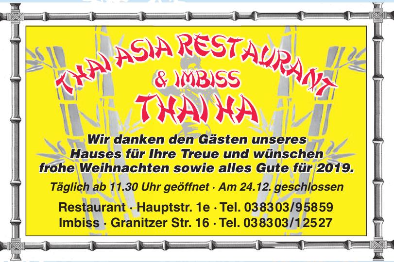 Thai Asia Restaurant & Imbiss Thaiha