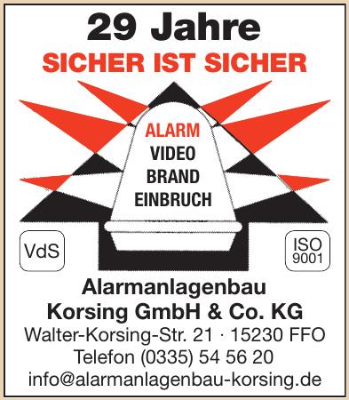 Alarmanlagenbau Korsing GmbH & Co. KG