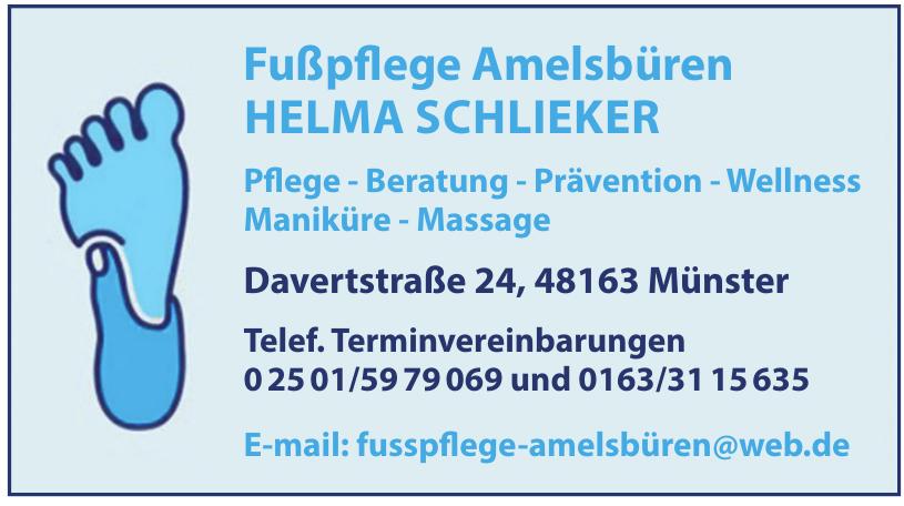 Fußpflege Amelsbüren Helma Schlieker