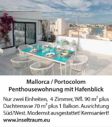 Mallorca / Portocolom - Penthousewohnung mit Hafenblick