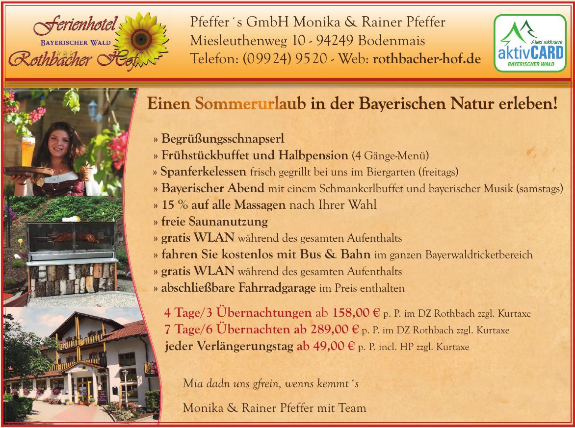 Pfeffer´s GmbH Monika & Rainer Pfeffer