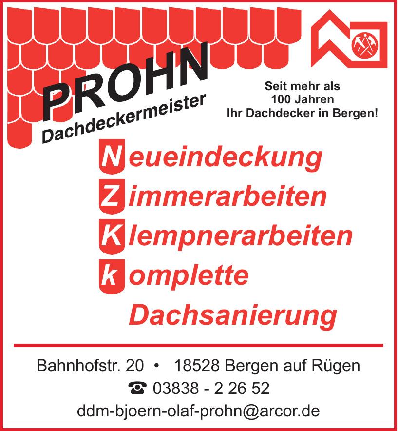 Prohn Dachdeckermeister