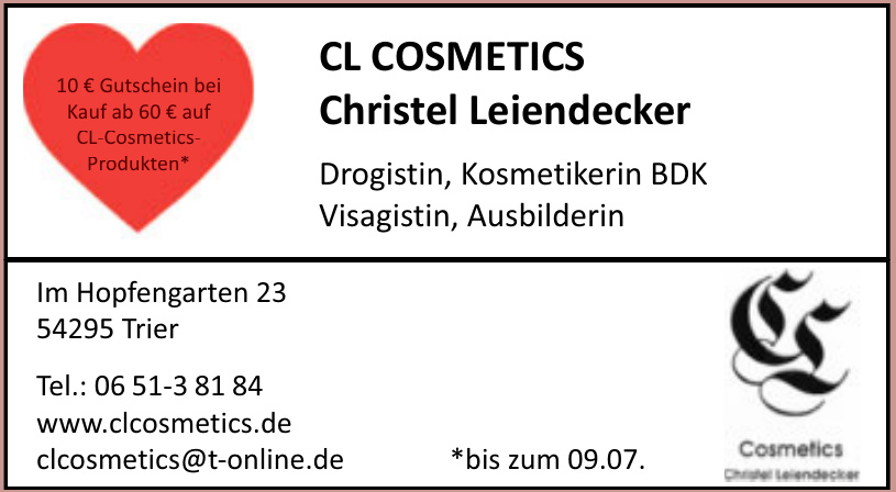 CL COSMETICS Christel Leiendecker