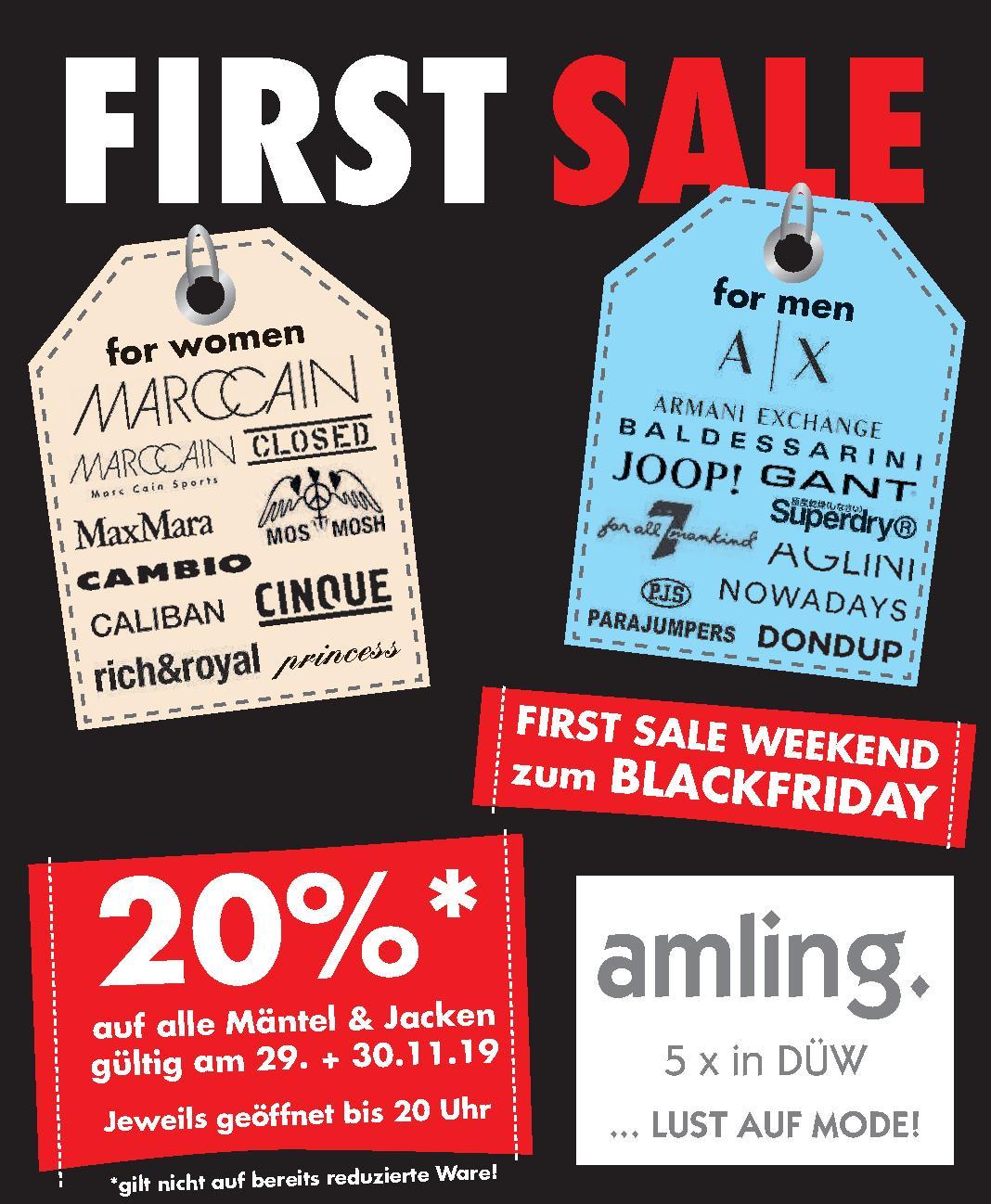 First Sale Weekend zum Blackfriday