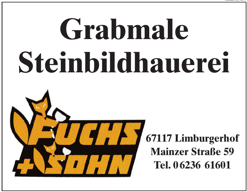 Grabmale Steinbildhauerei Fuchs + Sohn