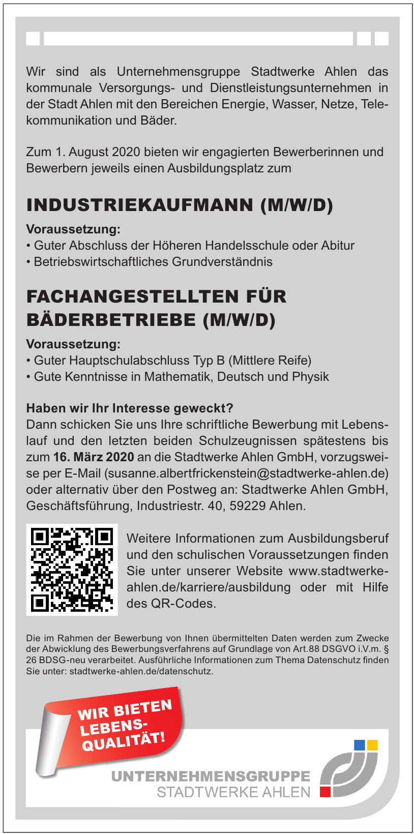 Stadtwerke Ahlen GmbH