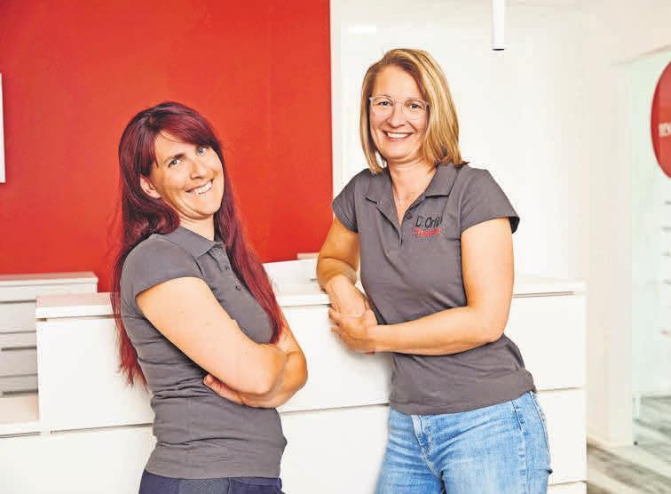 Maren Schmidts (links) und Dina Orlich leiten den therapiepunkt Lehrte.