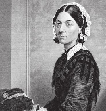 Die englische Krankenschwester Florence Nightingale gilt als Pionierin der heutigen Pflege.