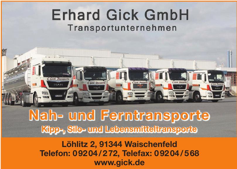 Erhard Gick GmbH Transportunternehmen