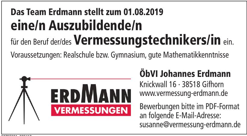 Erdmann Vermessungen ÖbVI Johannes Erdmann