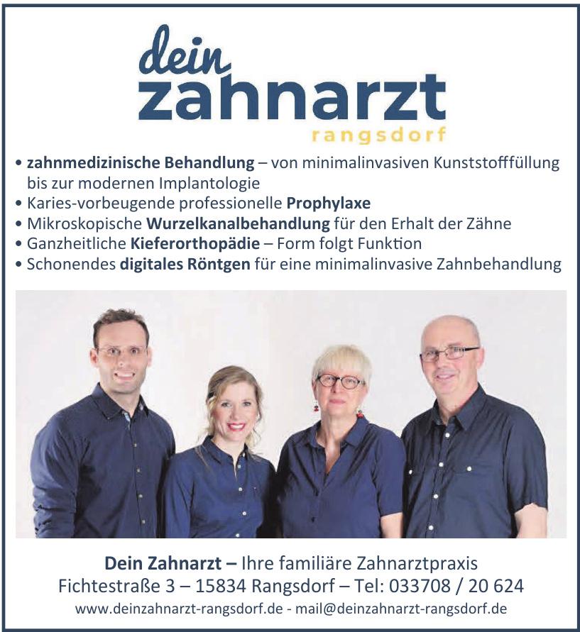 Dein Zahnarzt - Ihre familiäre Zahnarztpraxis