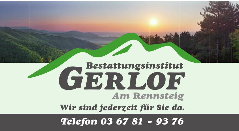 Bestattungsinstitut Gerlof Am Rennsteig