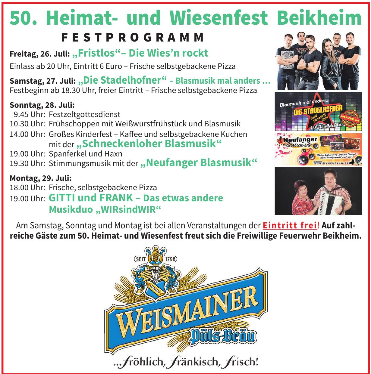 50. Heimat- und Wiesenfest Beikheim