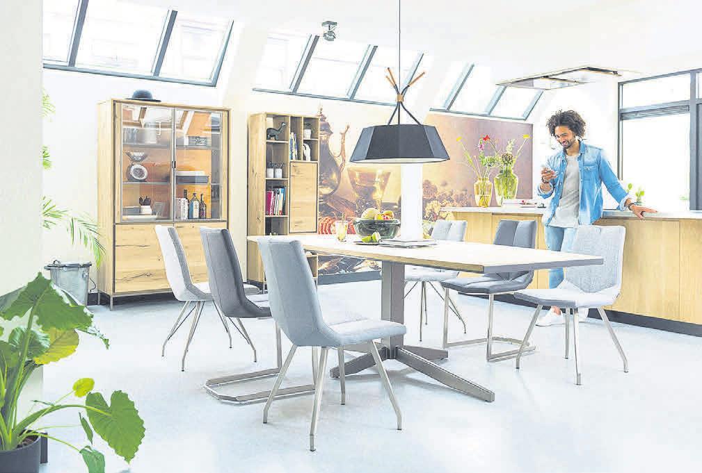 Möbel kann man nach der eigenen Lust und Laune miteinander kombinieren.