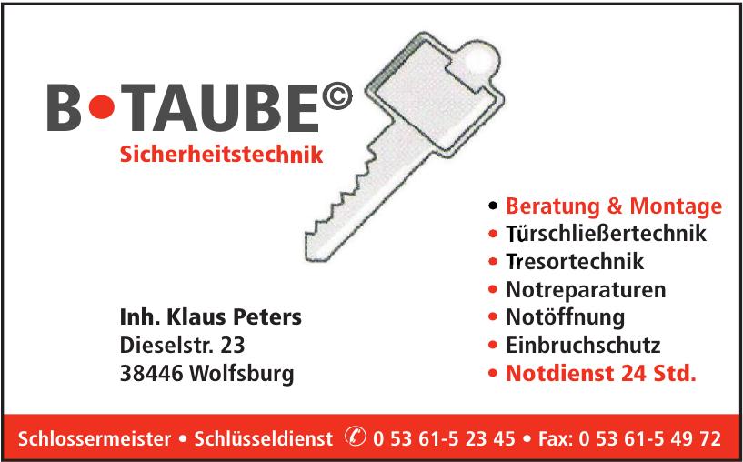B•TAUBE© Sicherheitstechnik