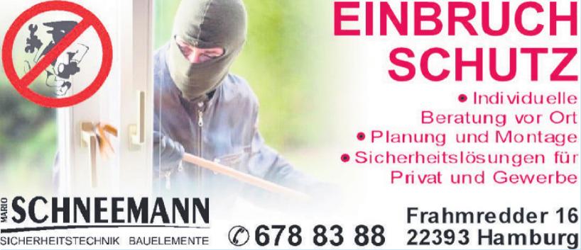 Mario Schneemann Sicherheitstechnik, Bauelemente
