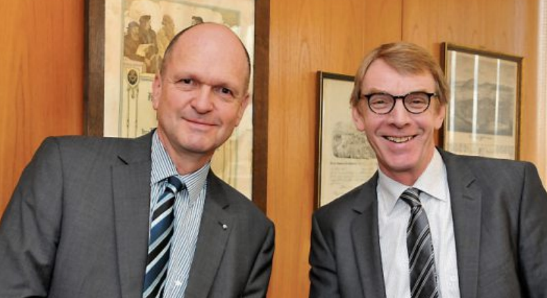 Dr. Joachim Eisert, Hauptgeschäftsführer der Handwerkskammer Reutlingen, und Harald Herrmann, Präsident der Handwerkskammer Reutlingen. Bild: Handwerkskammer