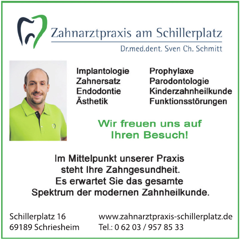 Zahnartzpraxis am Schillerplatz