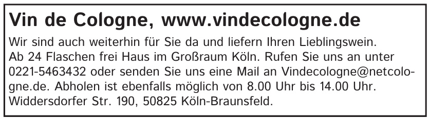 Vin de Cologne