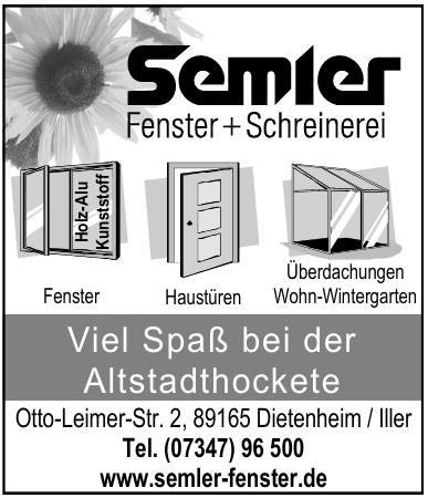 Semler Fenster + Schreinerei