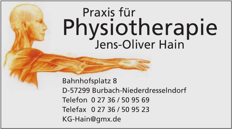 Praxis für Physiotherapie Jens-Oliver Hain