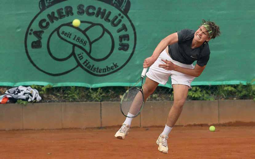 Lokalmatador Ferdinand Schlüter erreichte das Viertelfinale.