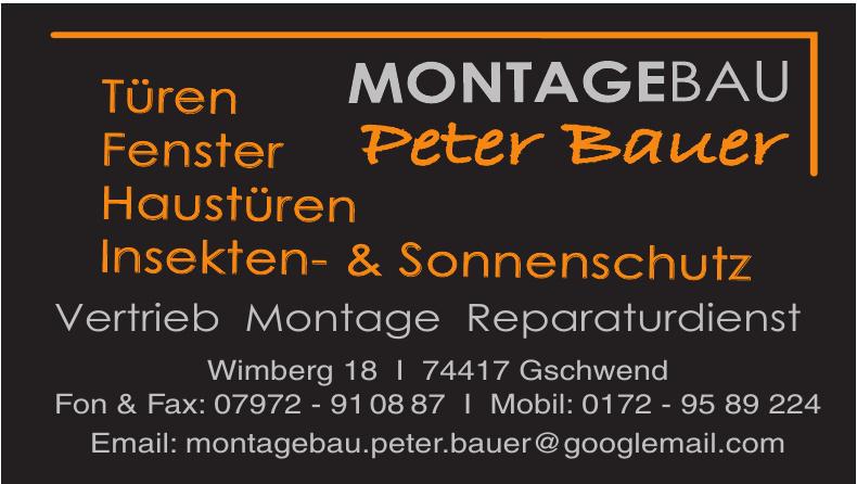 Montagebau Peter Bauer