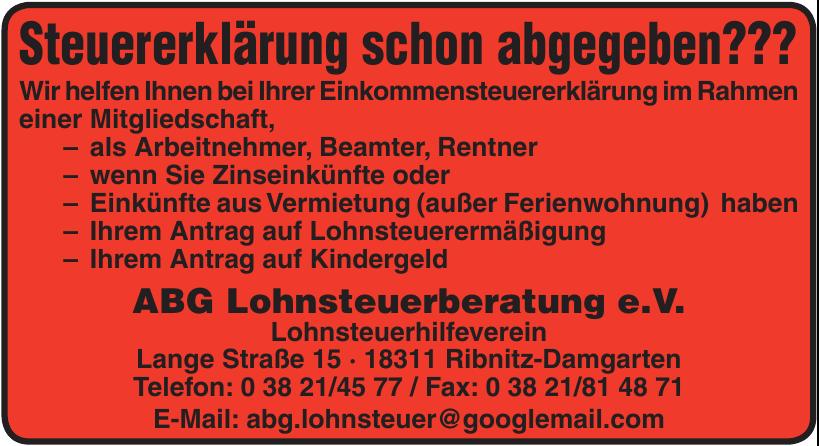ABG Lohnsteuerberatung e.V.