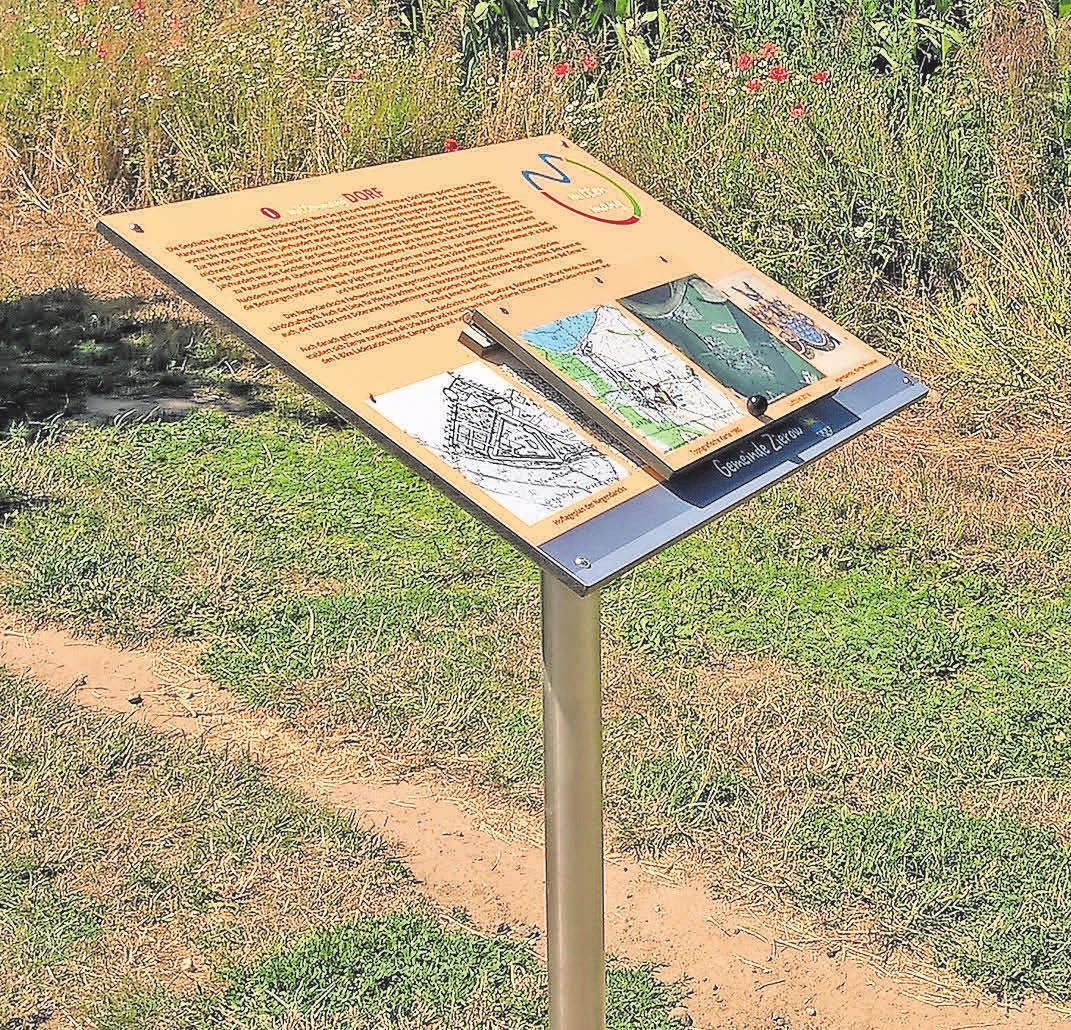 Mit Informationstafeln wird die reizvolle Landschaft in Zierow allen Naturinteressierten näher gebracht. Foto: S. Stöckmann