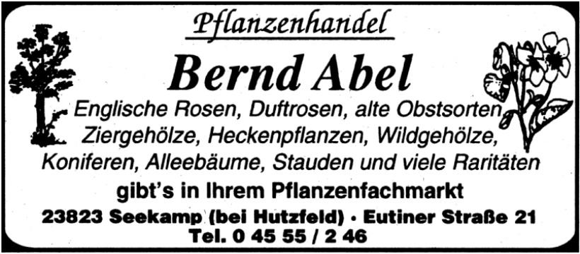 Bernd Abel - Pflanzenhandel