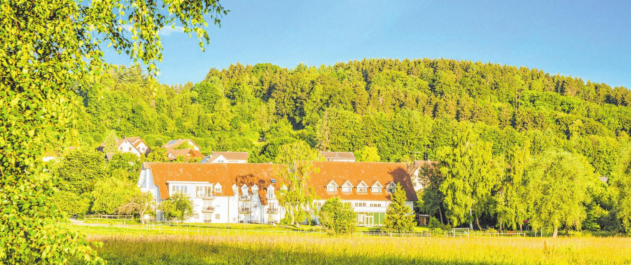 Das Landhotel Alte Mühle in Ostrach-Waldbeuren liegt idyllisch mitten in der Natur.