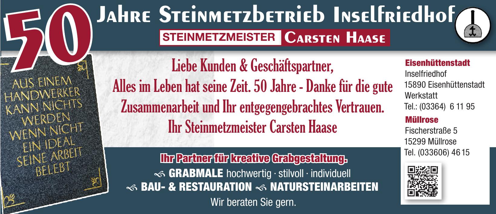 Steinmetzbetrieb Inselfriedhof - Steinmetzmeister Carsten Haase