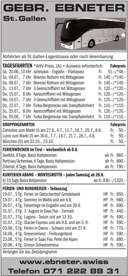 Gebr. Ebneter St. Gallen