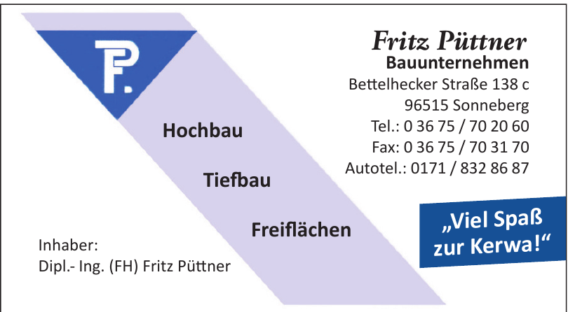 Dipl.- Ing. (FH) Fritz Püttner