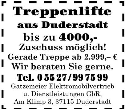 Gatzemeier Elektromobilvertrieb u. Dienstleistungen GbR