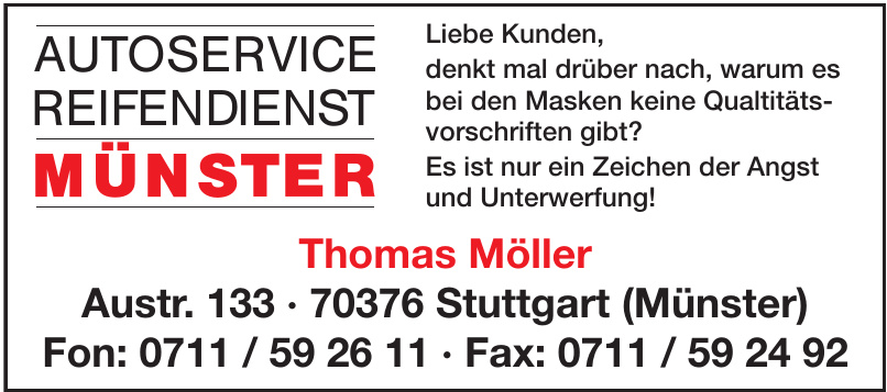 Autoservice Reifendienst Münster Thomas Möller