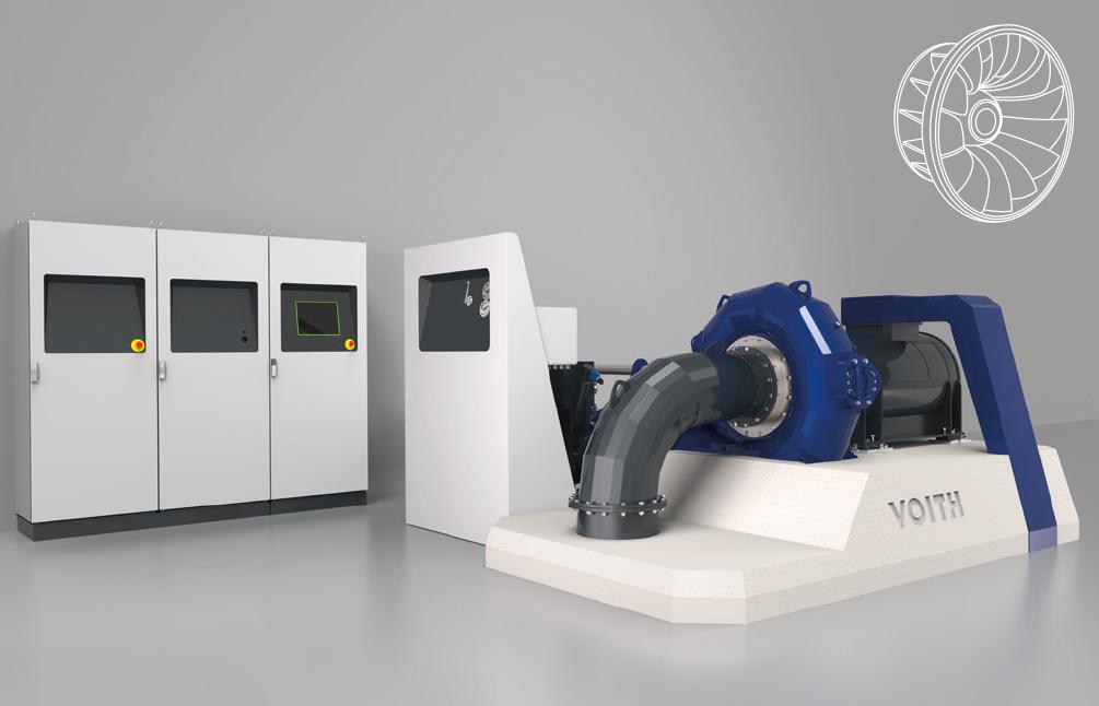 Horizontale eQ Francis-Einheit –<div>Ausgangsleistung im Bereich</div> <div>bis zu 1.200 kW</div>