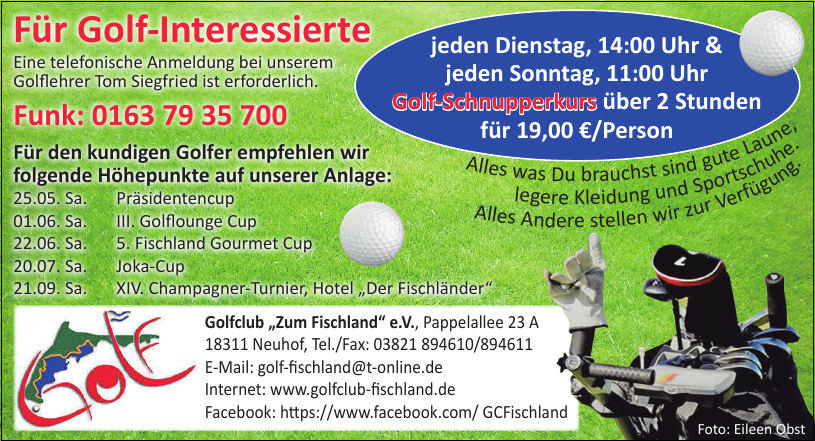 "Golfclub ""Zum Fischland"" e.V."
