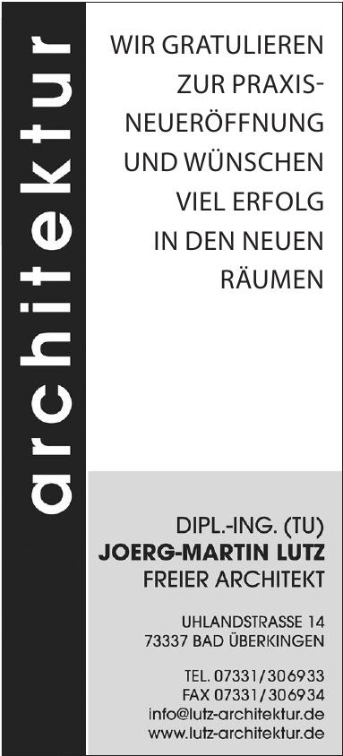 Joerg-Martin Lutz - Freier Architekt