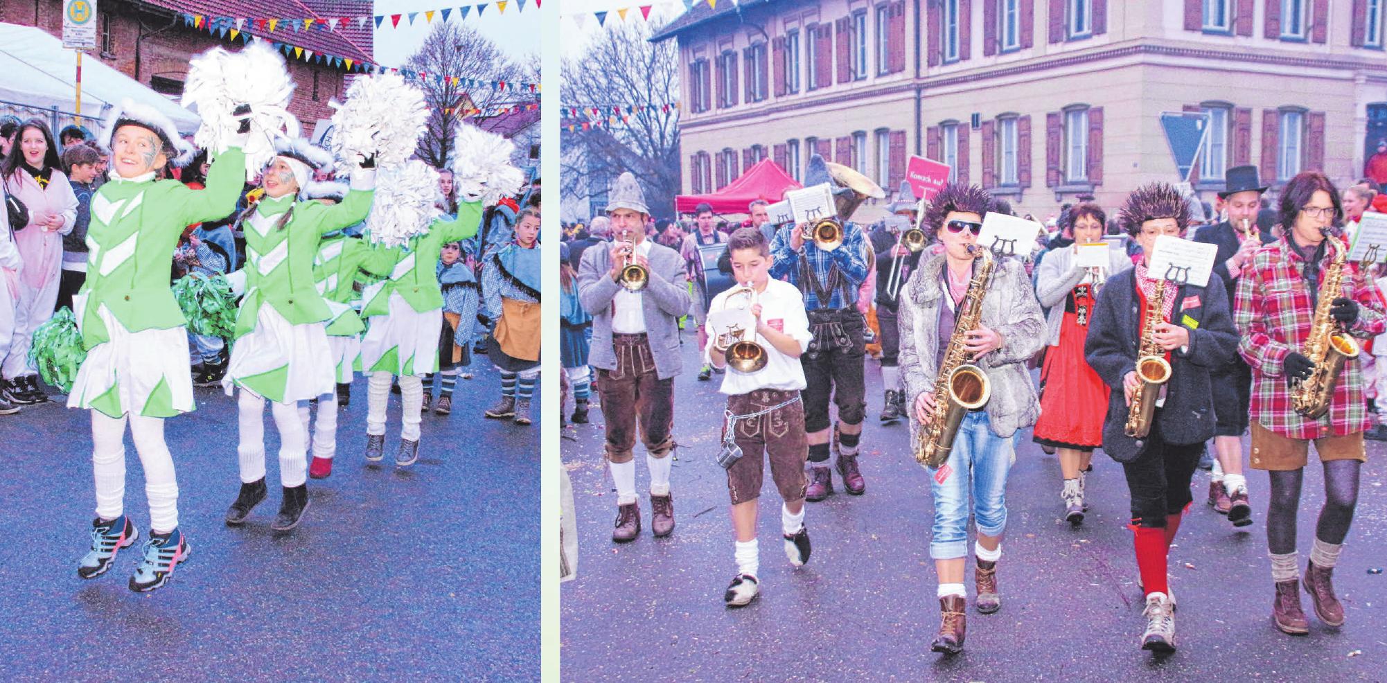 Beim Umzug in Reinstetten am 9. Februar sind die unterschiedlichsten Gruppen und Musikkapellen mit dabei. FOTO: PRIVAT