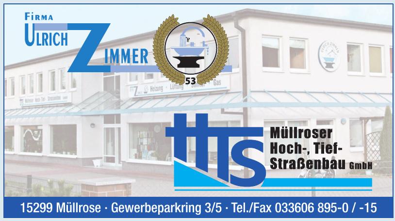 HTS Müllroser Hoch-, Tief- Straßenbau GmbH - Ulrich Zimmer