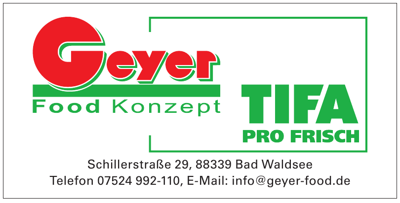 Geyer Food Konzept