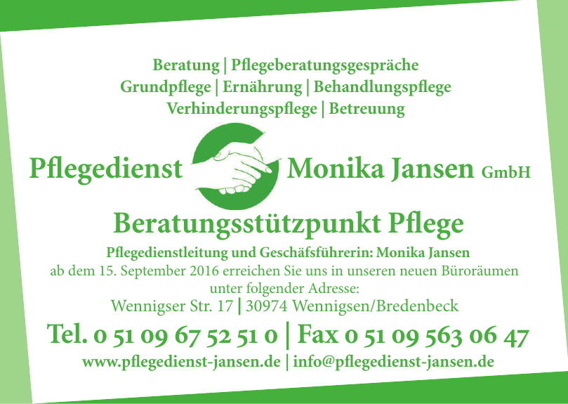 Pflegedienst Monika Jansen GmbH
