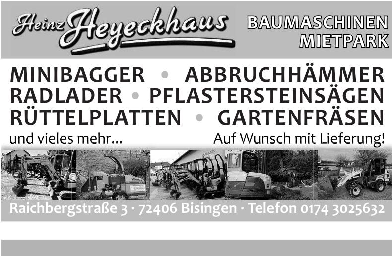 Baumaschinen-Mietpark Heinz Heyeckhaus