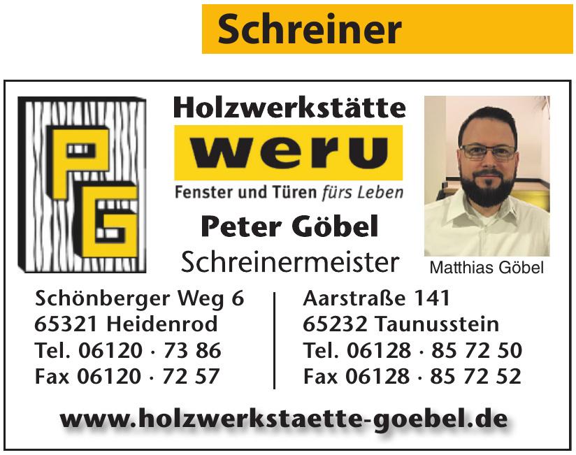 PG Holzwerkstätte Weru Peter Göbel Schreinermeister