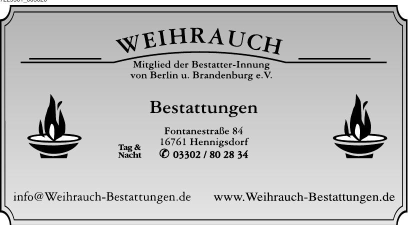 Weihrauch Bestattungen